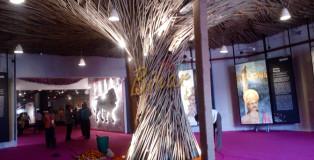 Beautiful art created with bamboo stick