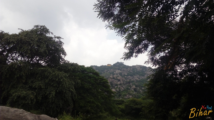 Far view of shiv mandir, barabar